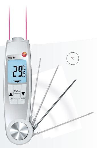 testo 104-IR infrared ve batırma tipi termometre