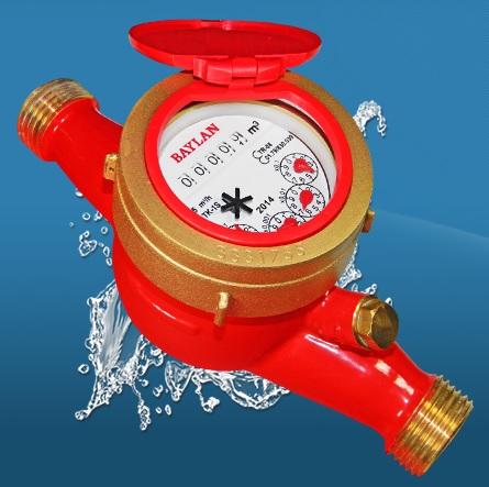 BAYLAN TK-1S ÇOK HÜZMELİ KURU TİP (Sıcak Su) SU SAYACI