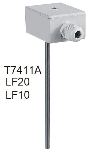 LF20  kanal tipi sıcaklık sensörü